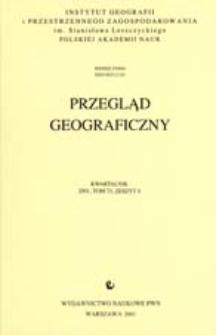 Przegląd Geograficzny T. 73 z. 4 (2001)