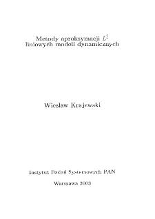 Metody aproksymacji L² liniowych modeli dynamicznych
