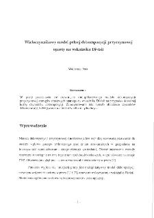 Wieloczynnikowy model pełnej dekompozycji przyczynowej oparty na wskaźniku Divisii