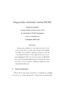 Diagnostyka zbieżności metod MCMC