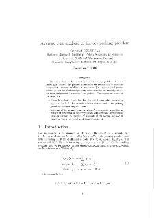 Average case analysis of the set packing problem