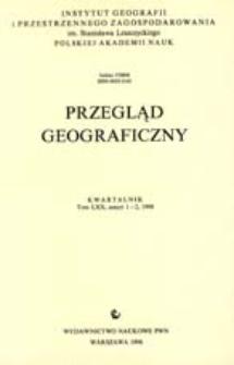 Przegląd Geograficzny T. 70 z. 1-2 (1998)