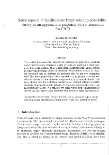 Some Aspects of Intuitionistic Fuzzy Sets and Possibility Theory as an Approach to Graphical Object Semantics for CBIR.