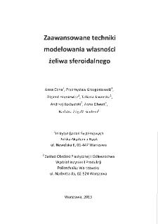 Zaawansowane techniki modelowania własności żeliwa sferoidalnego