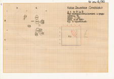KZG, V 9 D, plan rozmieszczenia kamieni w spągu warstwy 12