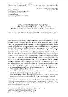 Średniowieczne zasoby onimiczne – niewykorzystane źródło w badaniach historycznojęzykowych? Prolegomena badawcze