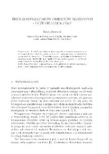 Sieci komparatorów obiektów złożonych : uczenie struktury