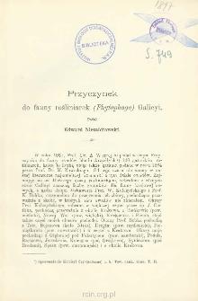 Przyczynek do fauny rośliniarek (Phytophaga) Galicyi
