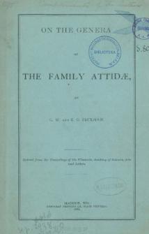 On the genera of the family Attidæ