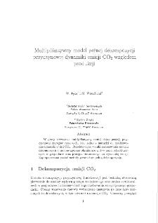 Multiplikatywny model pełnej dekompozycji przyczynowej dynamiki emisji CO2 względem produkcji