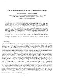 Bidirectional Comparison of Multi-Attribute Qualitative Objects