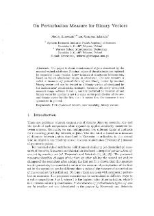 On Perturbation Measure for Binary Vectors