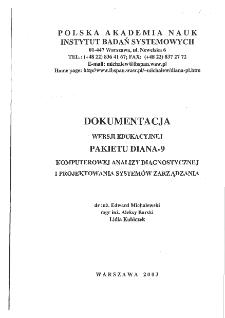 Wersja edukacyjna pakietu DIANA-9 dla uczelni