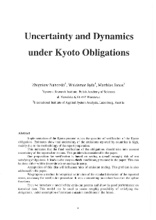 Uncertainty and Dynamics under Kyoto Obligations