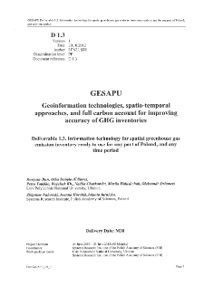 Information Technology for Spatial Greenhouse Gas Emission Inventory Ready to Use for any Part of Poland, and any Time Period