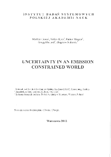 Uncertainty in an Emissions Constrained World