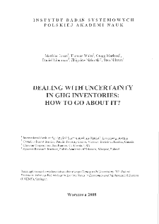 Dealing with uncertainty in GHG inventories: how to go about it?
