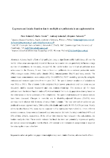 Exposure and Intake Fraction Due to Multiple Air Pollutants in an Agglomeration