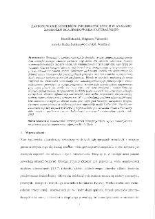 Zastosowanie systemów informatycznych w analizie zagrożeń dla środowiska naturalnego