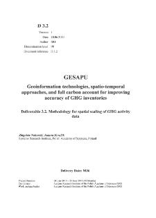 Methodology for Spatial Scaling of GHG Activity Data