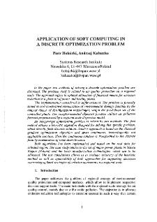 Application of Soft Computing in a Discrete Optimization Problem