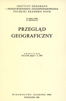 Przegląd Geograficzny T. 65 z. 1-2 (1993)