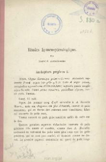 Etudes Hyménoptèrologiques. [cz. 2]