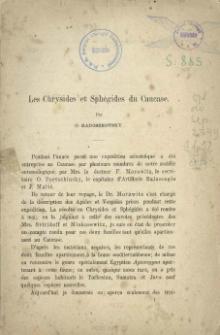 Les Chrysides et Sphégides du Caucase