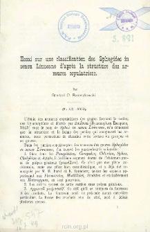Essai sur une classification des Sphegides in sensu Linneano d'après la structure des armures copulatrices