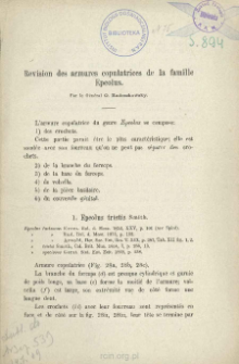Revision des armures copulatrices de la famille Epeolus