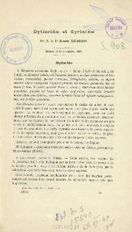 Dytiscidæ et Gyrinidæ; Addenda: Descriptions de Dytiscides nouveaux de l'Amérique du Sud