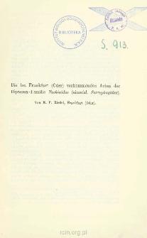 Die bei Frankfurt (Oder) verkommenden Arten der Dipteren-Familie Tachinidae (einschl. Sarcophagidae)