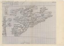 KZG, VI 502 C, 602 A, plan archeologiczny wykopu, konstrukcje drewniane