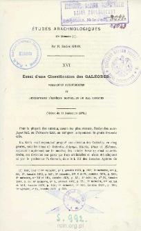 Essai d'une classification des Galéodes : Remarques synonymiques et descriptions d'espèces nouvelles ou mal connues
