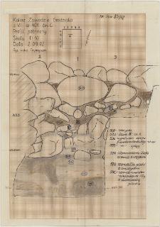 KZG, VI 401 C, profil archeologiczny N wykopu
