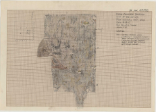 KZG, VI 402 CD, plan archeologiczny wykopu