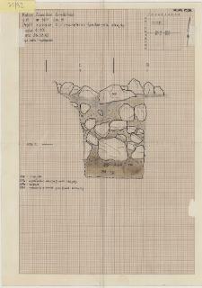 KZG, VI 501 B, profil archeologiczny zachodni wykopu