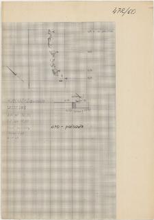 KZG, I 93 C, IV 93 A, plan archeologiczny wykopu