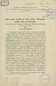 Nowy gatunek wypławka dla fauny polskiej: Bdellocephala punctata Pallas pod Warszawą = Une nouvelle espèce de Triclades pour la faune polonaise: Bdellocephala punctata Pallas