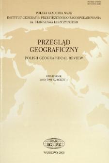 Przegląd Geograficzny T. 81 z. 1 (2009), Spis treści
