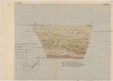 KZG, I 800 D, profil archeologiczny SW wykopu