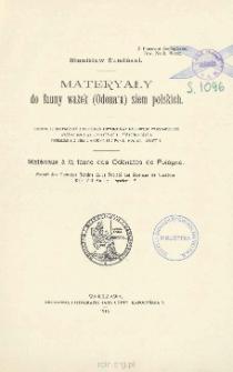 Materyały do fauny ważek (Odonata) ziem polskich = Matériaux à la faune des Odonates de Pologne