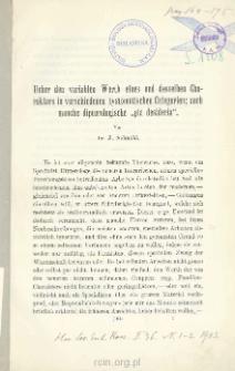 """Ueber den variablen Werth eines und desselben Charakters in verschiedenen systematischen Categorien; auch manche dipterologische """"pia desideria"""""""