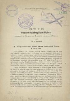 Spis owadów dwuskrzydłych (Diptera) zebranych w Królestwie Polskiem i Gubernii Mińskiej