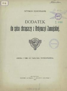 Dodatek do spisu chrząszczy z Ordynacyi Zamojskiej
