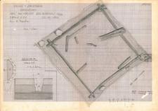 KZG, I 498 B 499 AC, plan archeologiczny wykopu