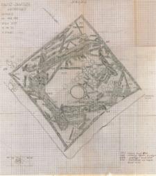 KZG, I 498B 499 AC, plan archeologiczny wykopu