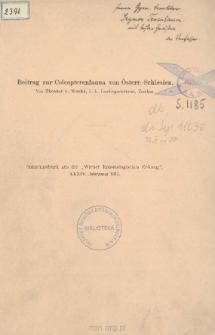 Beitrag zur Coleopterenfauna von Österr.-Schlesien