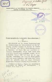 Zoogeographische uebersicht Zentraleuropas