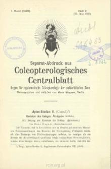 Apion-Studien II. (Curcul.) : Revision des Subgen. Protapion Schilsky. (45. Beitrag zur Kenntnis der Subfam. Apioninae)